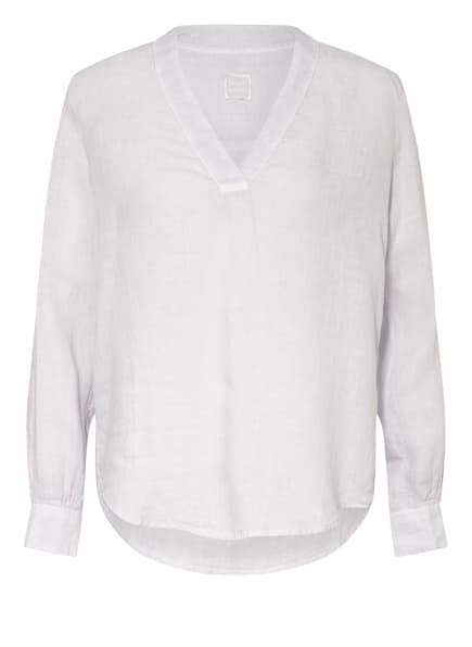 120%lino Blusenshirt aus Leinen, Farbe: HELLLILA/ HELLGRAU (Bild 1)