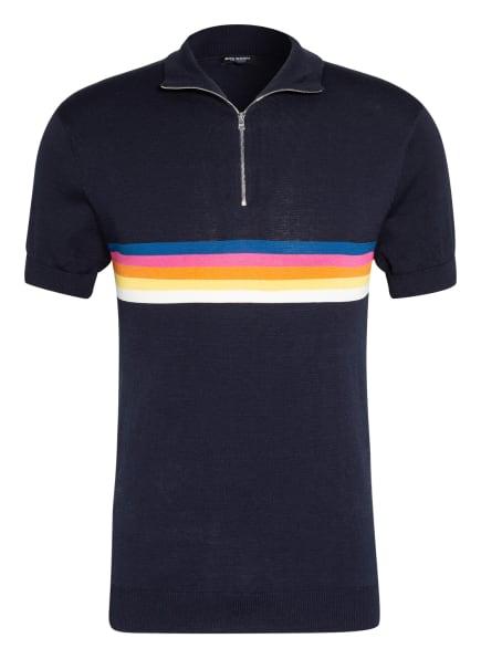 RON DORFF Strickshirt mit Seide, Farbe: DUNKELBLAU/ GELB/ PINK (Bild 1)