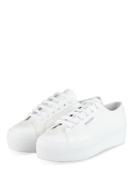 SUPERGA Plateau-Sneaker 2790 SYNCROCOLEAW, Farbe: WEISS (Bild 1)