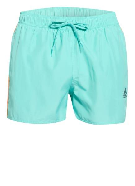 adidas Badeshorts CLASSIC 3-STREIFEN , Farbe: MINT/ NEONORANGE (Bild 1)