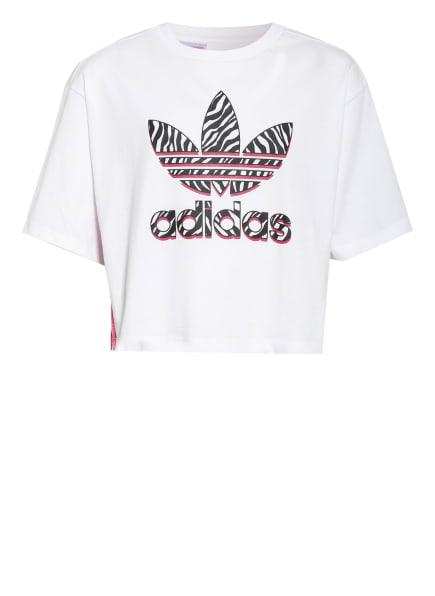 adidas Originals Cropped-Shirt GRAPHIC PRINT, Farbe: WEISS (Bild 1)