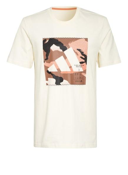 adidas T-Shirt ATHLETICS, Farbe: HELLGELB/ COGNAC/ LACHS (Bild 1)