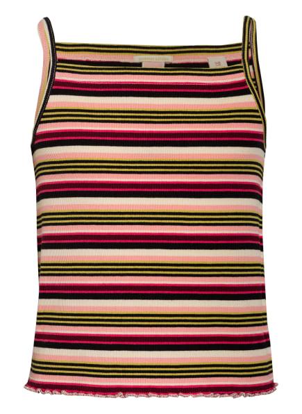 SCOTCH R'BELLE Jersey-Top, Farbe: ECRU/ SCHWARZ/ ROSA (Bild 1)