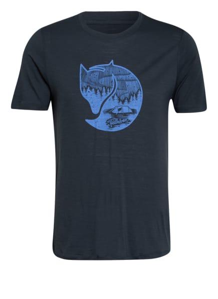 FJÄLLRÄVEN T-Shirt ABISKO mit Merinowolle, Farbe: DUNKELBLAU (Bild 1)