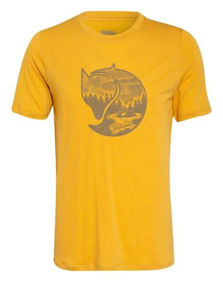 FJÄLLRÄVEN T-Shirt ABISKO mit Merinowolle, Farbe: DUNKELGELB (Bild 1)