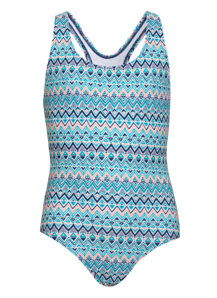 Sanetta Badeanzug, Farbe: HELLBLAU/ WEISS/ ORANGE (Bild 1)