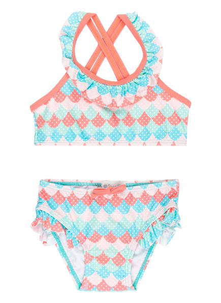 Sanetta Bustier-Bikini mit UV-Schutz 50+, Farbe: TÜRKIS/ ROSA (Bild 1)