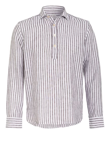 eleventy Leinenhemd Regular Fit, Farbe: WEISS/ TAUPE (Bild 1)
