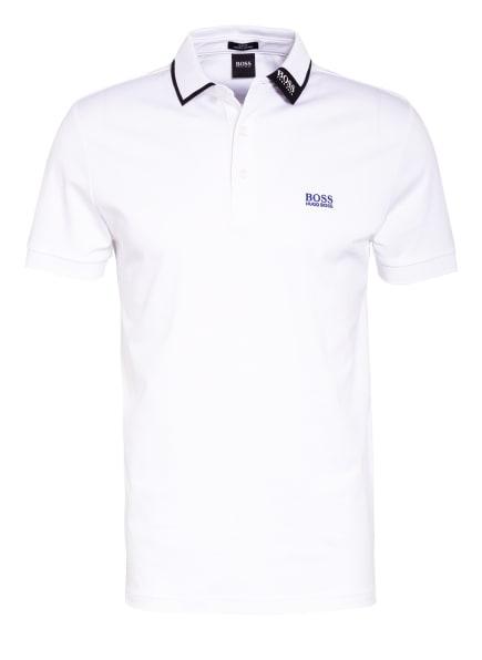 BOSS Jersey-Poloshirt PAULE Slim Fit, Farbe: WEISS/ SCHWARZ (Bild 1)