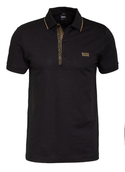 BOSS Piqué-Poloshirt PAULE Slim Fit, Farbe: SCHWARZ/ CAMEL (Bild 1)