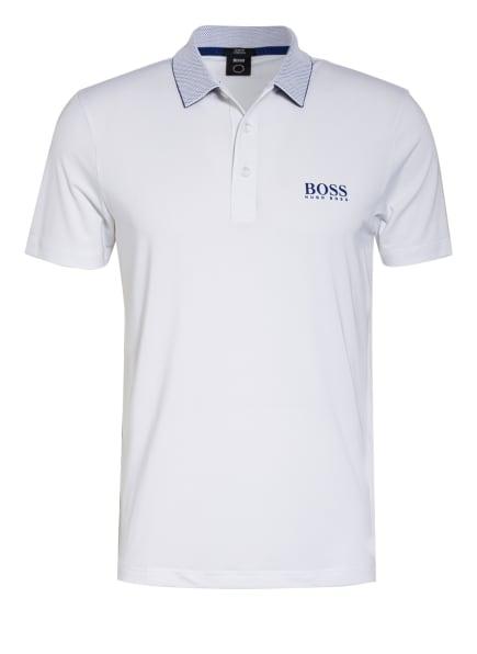 BOSS Funktions-Poloshirt PAILETECH Slim Fit, Farbe: WEISS/ BLAU (Bild 1)