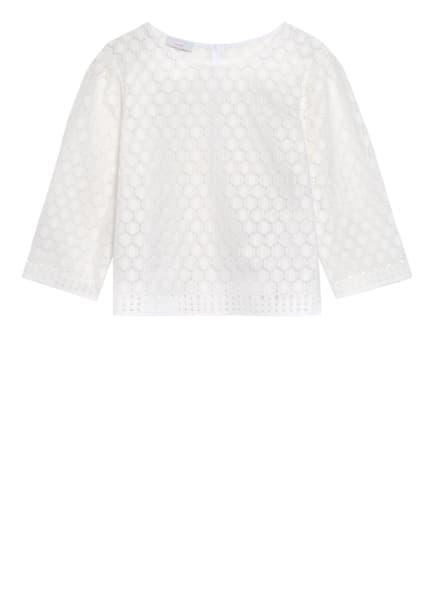 CINQUE Shirt CIPATER aus Lochspitze mit 3/4-Arm , Farbe: WEISS (Bild 1)