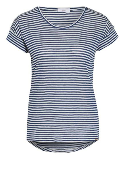 CINQUE T-Shirt CITICK mit Leinen, Farbe: WEISS/ BLAU (Bild 1)