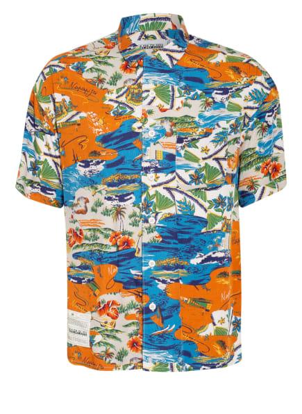 NAPAPIJRI Kurzarm-Hemd G-MAUI Regular Fit, Farbe: ORANGE/ BEIGE/ BLAU (Bild 1)