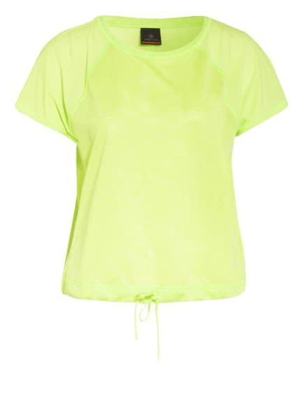 FIRE+ICE T-Shirt FIONA mit Mesh-Einsatz, Farbe: NEONGRÜN (Bild 1)