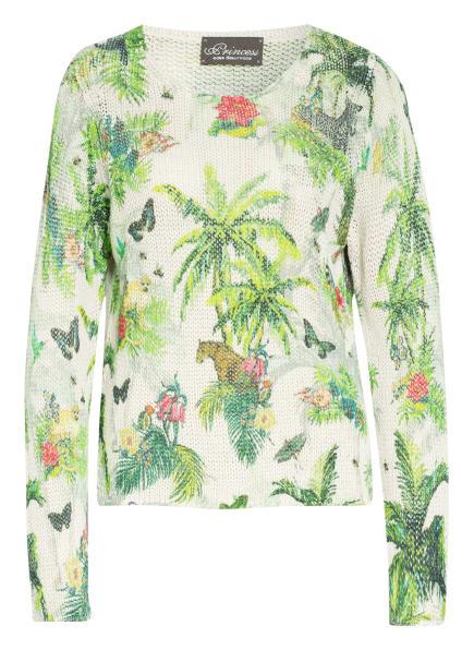 Princess GOES HOLLYWOOD Pullover mit Leinen , Farbe: CREME/ GRÜN/ PINK (Bild 1)