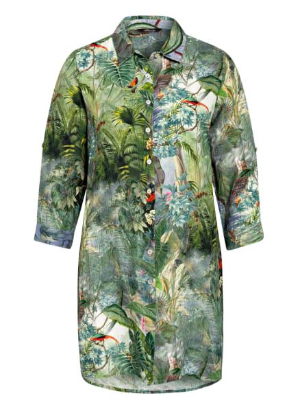 Princess GOES HOLLYWOOD Hemdbluse aus Leinen mit 3/4-Arm, Farbe: GRÜN/ HELLBLAU/ ROT (Bild 1)