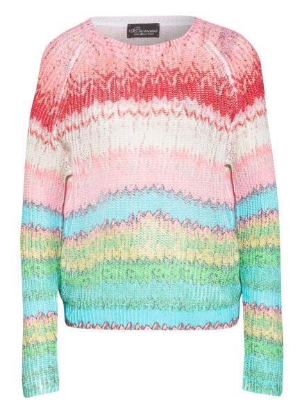 Princess GOES HOLLYWOOD Pullover mit Leinen , Farbe: ROSA/ ROT/ TÜRKIS (Bild 1)