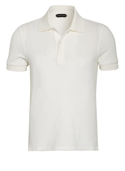 TOM FORD Frottee-Poloshirt, Farbe: WEISS (Bild 1)