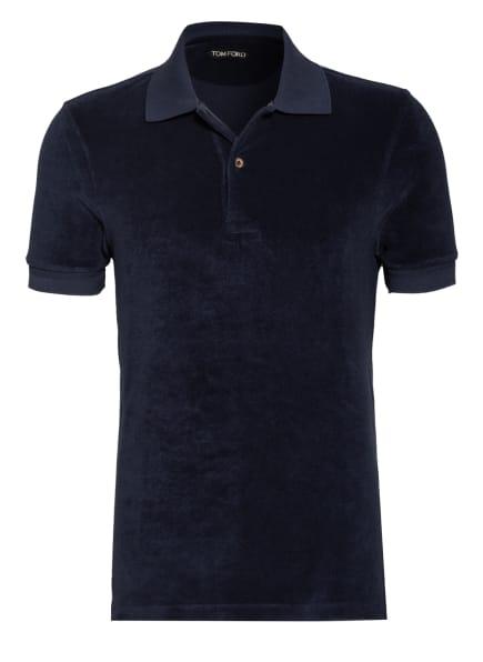 TOM FORD Frottee-Poloshirt, Farbe: DUNKELBLAU (Bild 1)