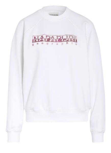 NAPAPIJRI Sweatshirt BILEA, Farbe: WEISS/ FUCHSIA (Bild 1)