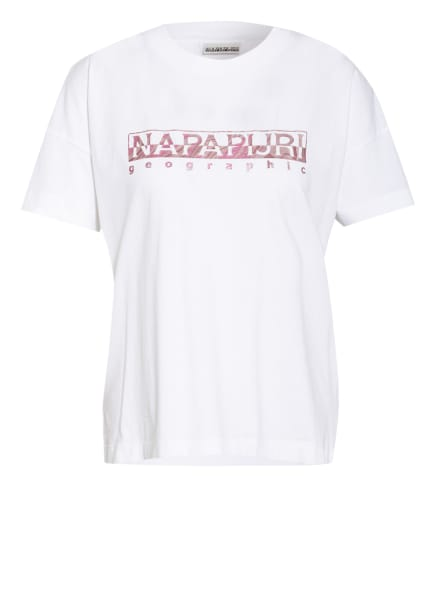 NAPAPIJRI T-Shirt SILEA, Farbe: WEISS/ FUCHSIA (Bild 1)
