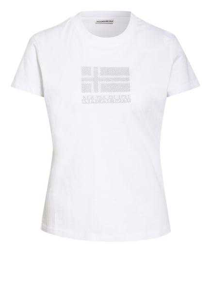 NAPAPIJRI T-Shirt SEOLL, Farbe: WEISS/ GRAU (Bild 1)