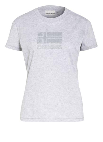 NAPAPIJRI T-Shirt SEOLL, Farbe: GRAU/ HELLGRAU (Bild 1)