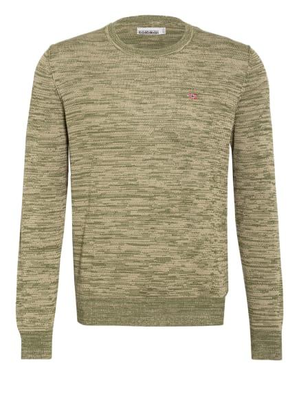 NAPAPIJRI Pullover DUEVILLE, Farbe: OLIV/ CREME (Bild 1)