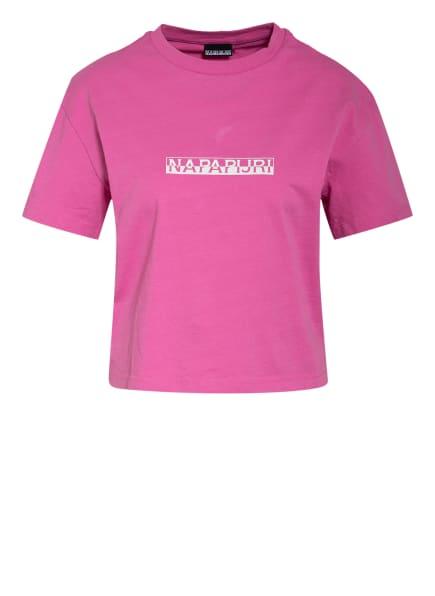 NAPAPIJRI T-Shirt BOX , Farbe: PINK/ WEISS (Bild 1)