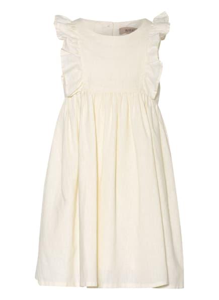 WHEAT Kleid mit Leinen und Rüschenbesatz, Farbe: ECRU (Bild 1)