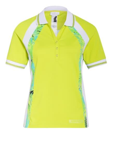 SPORTALM Funktions-Poloshirt mit Mesh-Einsätzen, Farbe: HELLGRÜN/ WEISS/ HELLBLAU (Bild 1)