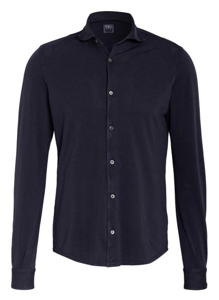 FEDELI Piquéhemd STEVE Slim Fit, Farbe: DUNKELBLAU (Bild 1)