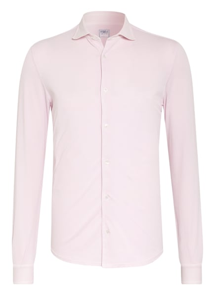 FEDELI Piquéhemd STEVE Slim Fit, Farbe: HELLROSA (Bild 1)