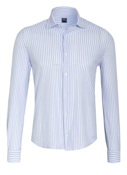 FEDELI Jerseyhemd STEVE Slim Fit, Farbe: WEISS/ HELLBLAU (Bild 1)