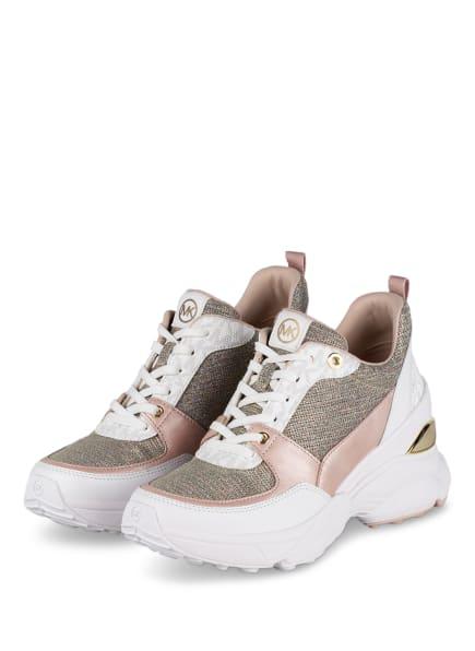 MICHAEL KORS Plateau-Sneaker MICKEY mit Glanzgarn, Farbe: WHT RAINBOW (Bild 1)