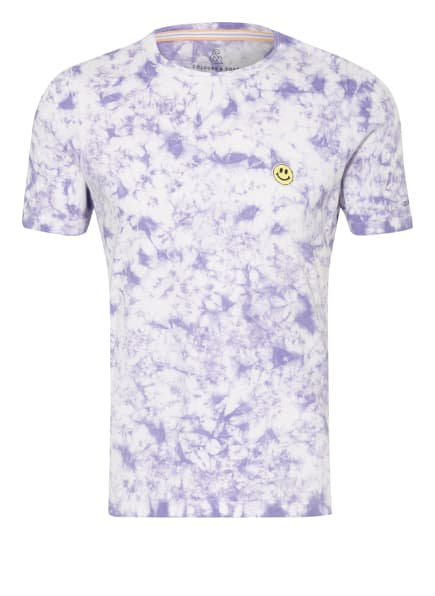 COLOURS & SONS T-Shirt FRANK, Farbe: WEISS/ LILA (Bild 1)