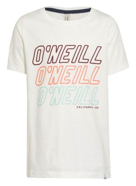 O'NEILL T-Shirt ALL YEAR, Farbe: WEISS/ HELLROT/ MINT (Bild 1)