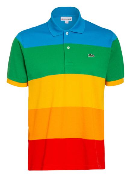 LACOSTE Piqué-Poloshirt, Farbe: BLAU/ GRÜN/ ORANGE (Bild 1)