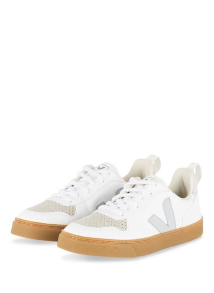 VEJA Sneaker V-10, Farbe: WEISS/ CREME (Bild 1)