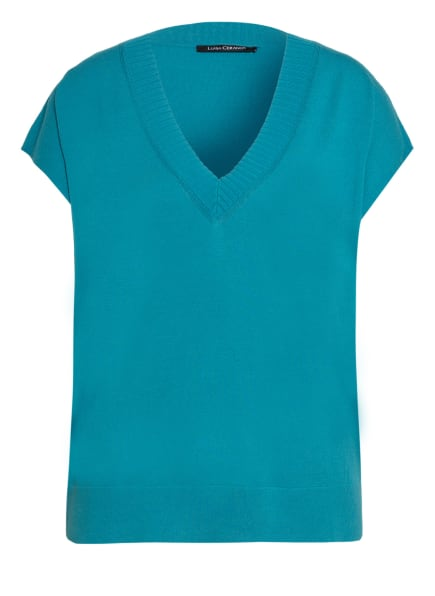 LUISA CERANO Strickshirt, Farbe: TÜRKIS (Bild 1)