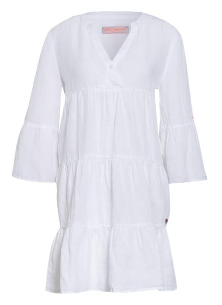 FRIEDA&FREDDIES Leinenkleid mit 3/4-Arm, Farbe: WEISS (Bild 1)