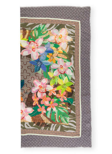 CODELLO Tuch, Farbe: OLIV/ NEONGELB/ TAUPE (Bild 1)