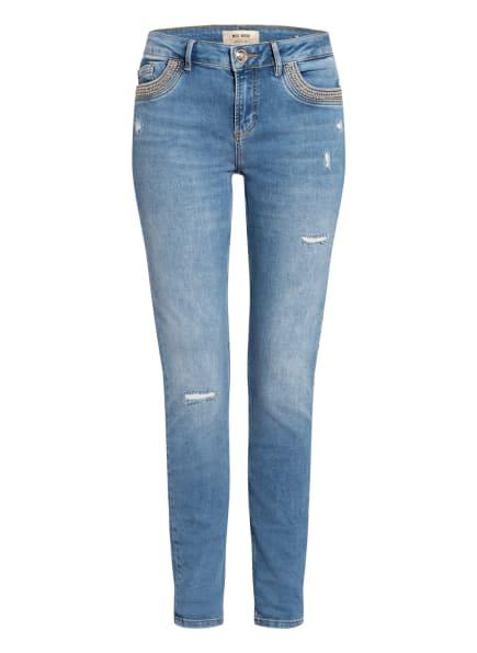MOS MOSH Skinny Jeans BREAKFOR MERCURY mit Nietenbesatz, Farbe: 406 LIGHT BLUE (Bild 1)