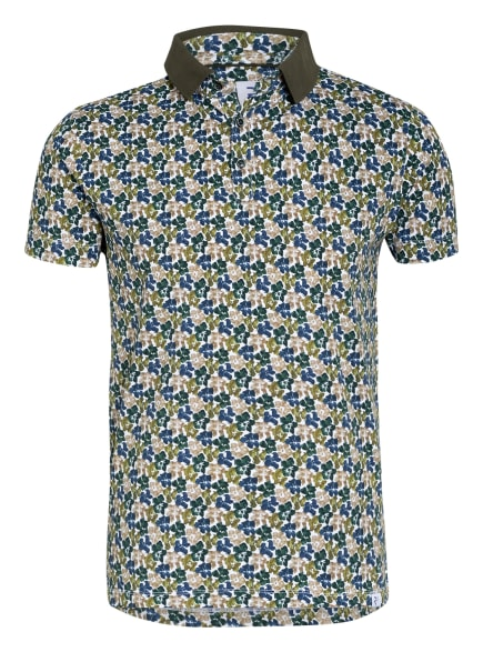R2 Amsterdam Jersey-Poloshirt, Farbe: WEISS/ BLAU/ GRÜN (Bild 1)