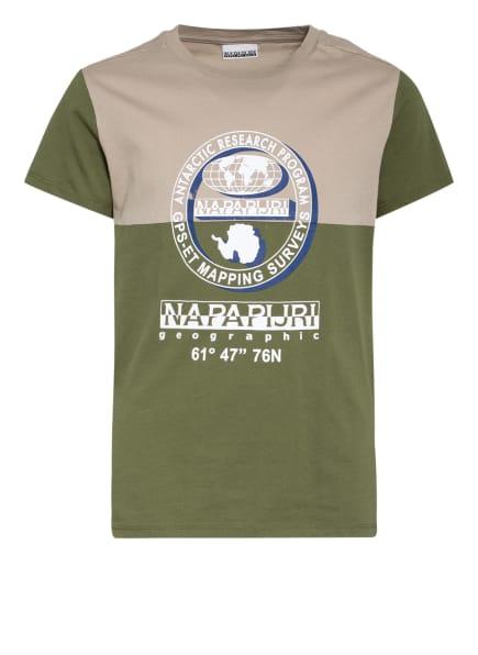 NAPAPIJRI T-Shirt, Farbe: OLIV/ BEIGE (Bild 1)