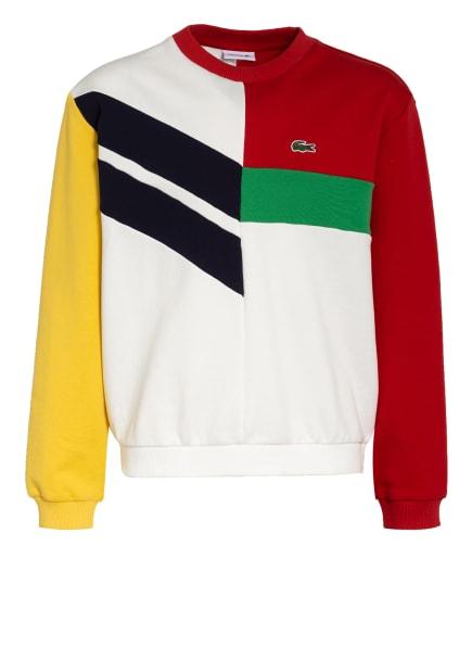 LACOSTE Sweatshirt, Farbe: WEISS/ ROT/ GRÜN (Bild 1)
