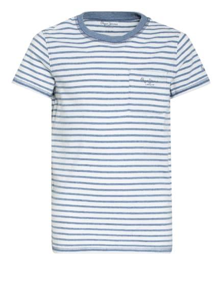 Pepe Jeans T-Shirt, Farbe: WEISS/ HELLBLAU (Bild 1)