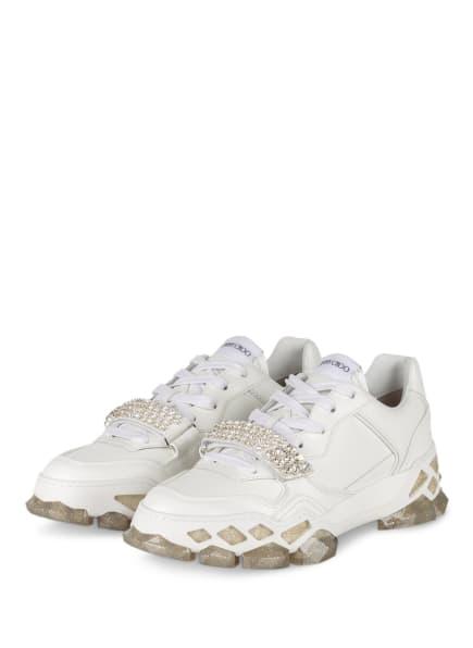 JIMMY CHOO Plateau-Sneaker DIAMOND X, Farbe: WEISS (Bild 1)