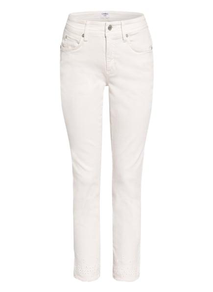 CAMBIO 7/8-Jeans PARLA mit Lochspitze, Farbe: ECRU (Bild 1)